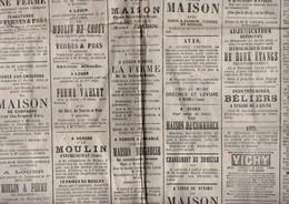 AISNE SISSY ROZOY-SUR-SERRE CROUY SOISSONS EVERGNICOURT MONTIGNY-LES-CONDE ARTONGES - Historical Documents