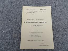 """Manuel Technique De L'extincteur Sur Roues, à Mousse, 85 Litres """"Le Chimiste"""" - 117/06 - Books, Magazines, Comics"""
