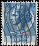 ITALY - Scott #632 Syracusean Coin, Wmk. 277 / Used Stamp - 6. 1946-.. Republic