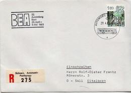 Postal History: Switzerland Registered Cover With Automobil Postbureau Cancel - Lettres & Documents