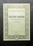 Musica Spartiti - Philarmonia No. 731 - Joseph Haydn - Sinfonia No. 31 - Vecchi Documenti