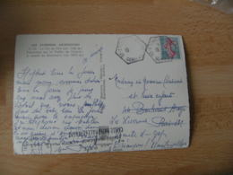Saint Etienne La Geneste 19  Recette Auxiliaire Obliteration Sur Lettre - Marcophilie (Lettres)