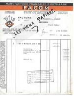 94 - Val-de-marne - GENTILLY - Facture FACOM - Manufacture D'outillage - 1954 - REF 116E - 1900 – 1949