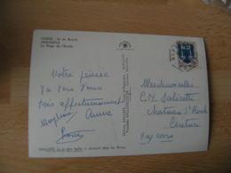 Algalola Corse  Recette Auxiliaire Obliteration Sur Lettre - Marcophilie (Lettres)