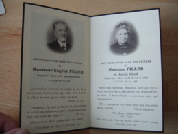 Faire Part Deces Couple Image Pieuse Religieuse Holly Card - Obituary Notices