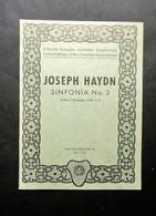 Musica Spartiti - Philarmonia No. 703 - Joseph Haydn - Sinfonia No. 3 - Vecchi Documenti