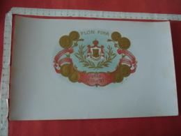 Flor Fina  Medaille  Gaufree  Etiquette Boite Cigare Cigares - Etiquettes
