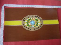 Saint Felix Brasil Gaufree  Etiquette Boite Cigare Cigares - Etiquettes