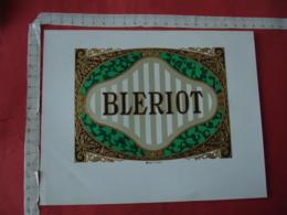 Bleriot E Etiquette Boite Cigare Cigares Gaufree - Etiquettes