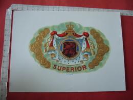 Superior Lion Medaille  Couronne  Etiquette  Cigare Cigares Gaufree - Etiquettes