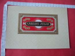 Carlos Julio   Etiquette  Cigare Cigares Gaufree - Etiquettes