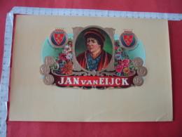 Jan Van Eijck Portrait Homme Medaille  Etiquette  Cigare Cigares Gaufree - Etiquettes