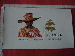 Portrait Femme Noire Chapeau Rouge  Medaille  Etiquette  Cigare Cigares - Etiquettes