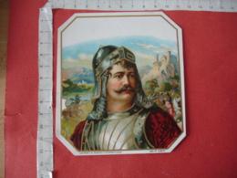 Moyen Age Portrait Soldat Etiquette  Cigare Cigares Gaufre - Etiquettes