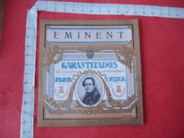 Eminent Portrait Homme Etiquette  Cigare Cigares Gaufre - Etiquettes