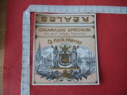 La Fleur D Anvers Port Eglise Etiquette  Cigare Cigares - Etiquettes