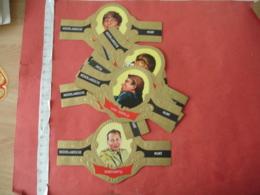 Lot 17 Bague   Cigare Cigares Theme Homme Celebre  Suharto Cassus Clay Tout En Photo  Munt - Cigar Bands