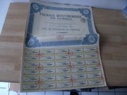 Lot De  11  Action  Freinage Westinghouse Pour Automobile - Actions & Titres