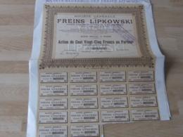 Lot 5 Action   Freins Lipkowski - Actions & Titres