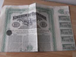 Kingdom Of Romania Royaume Roumanie  Emprunt Action Illustree - Shareholdings