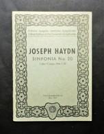 Musica Spartiti - Philarmonia No. 720- Joseph Haydn - Sinfonia No. 20 - Vecchi Documenti