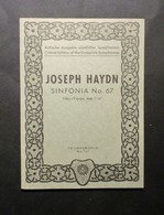Musica Spartiti - Philarmonia No.767Joseph Haydn - Sinfonia No. 67 - Vecchi Documenti