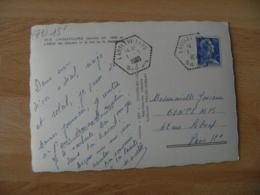 Lanslevillard  Recette Auxiliaire Obliteration Sur Lettre - Marcophilie (Lettres)