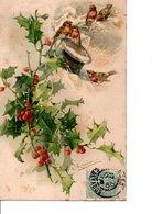 Illustrateur C. KLEIN.  Des Fleurs, Du Gui; Des Oiseaux; Bonne Fête. LE LOT DE 4 CPA. 1905. 1906. Voir SCANS. Bon état. - Klein, Catharina