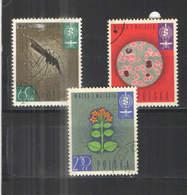 Polonia PO 1962 Malaria Fiori E  Scott.1087/1089+See Scan On Schaubek Page; - 1944-.... Repubblica