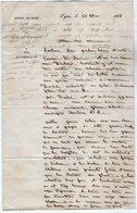 VP13.556 - LYON 1855 - Lettre Autographe De Mr R.DARDEL Architecte Né à LYON En 1796 Mort à CONDRIEU En 1871 - Autographs