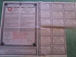 ROYAUME De ROUMANIE - Emprunt De Consolidation - Obligation Au Porteur De 200 Francs Français N°7537 - Actions & Titres