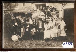 1357 CARTE PHOTO GROUPE FETE MI CAREME A IDENTIFIER 1909 TTB - Cartoline