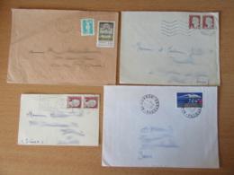 France Vers Suisse - Lot De 44 Enveloppes Timbrées Modernes - Bons Affranchissements Et Timbres Variés - Collections