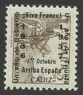 Spain, Cadiz 5 C. 1937, Mi # 19, MH - Nationalist Issues