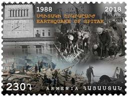 Armenia 2018 Mi 1089 Earthquake Of Spitak - 1988 MNH** - Arménie