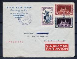 CAMBODGE - Lettre Recommandée Par Avion Du 13.11.1952. - Cambodge