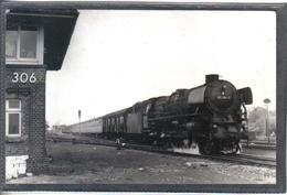Photo Originale Allemande 1972 Papenburg Railway Train Locomotive Cliché Marc Dahlström - Trains