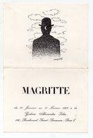 Paris 7e Bd St Germain : Carton D'invitation EXPOSITION MAGRITTE 1967 (PPP9902) - Non Classificati