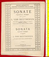B-18593 Music Score Sheet Partition BEETHOVEN Op.49 No 2. Germany 1901.10 Pages - Klassik