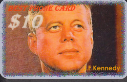 Kennedy  John F. 35th U.S. President  -  1 Card RARE! - Personnages