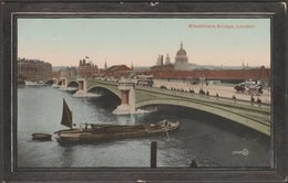 Blackfriars Bridge, London, 1912 - Valentine's Postcard - London