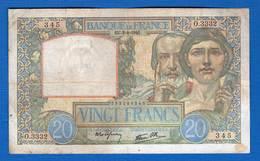 20  Fr  Du  3/4/1941 - 1871-1952 Antichi Franchi Circolanti Nel XX Secolo