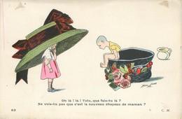 CPA  XAVIER SAGER - C. M. à Paris N° 82 Enfants Terribles Oh Là Là Toto Que Fais Tu Là ? Chapeau De Maman Pot De Chambre - Sager, Xavier