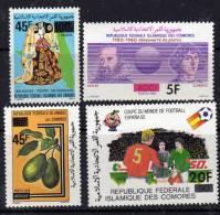 Comores N° 353 / 56 X  La Série Des 4 Valeurs Surchargées  Trace De Charnière Sinon TB - Comores (1975-...)