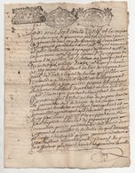 Acte De 4 Pages De 1720 - Manuscrits