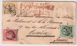 1873, Lettre Charge, 3 Couleurs, Pour La Suisse  , #a1503 - 1849-1876: Classic Period