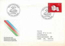 Switzerland - Cover : CCIO-EM-Military 1983    H-1408 - Horses