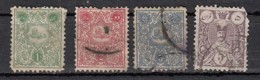 Iran  Sèrie 1885  4  Valeurs - Iran