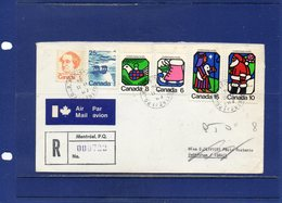 ##(DAN1812)-POSTAL HISTORY-Canada 1974-Airmail Registered Cover To Israel, Retour To Sender To Italy-Christmas - 1952-.... Regno Di Elizabeth II