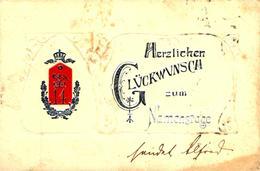 Régiment 14ème  Herzlichen Glückwunsch   Carte Gaufrée. - Regiments
